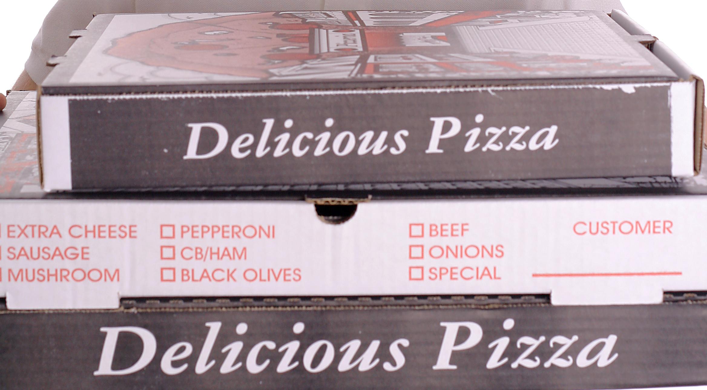 Inchiostro serigrafico per stampare sui cartoni della pizza
