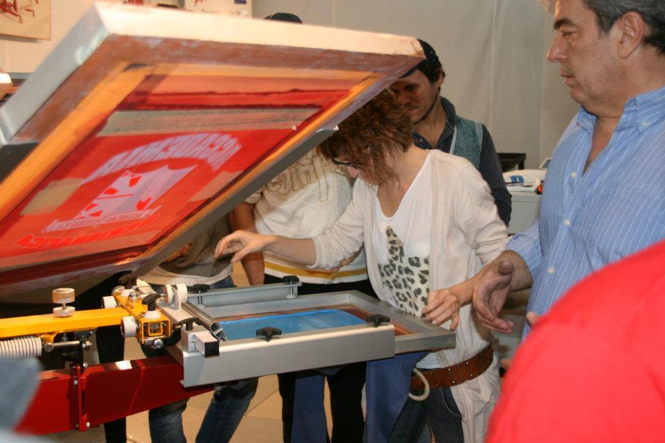 Foto dal Corso di Serigrafia di Accademia Serigrafica del 30 e 31 marzo