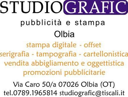 Studiografic. Servizio di pubblicità e stampa personalizzata ad Olbia