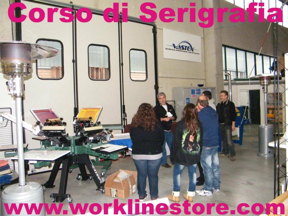Corso Base e Corso Avanzato di Serigrafia di luglio presso Work Line University a Cuneo
