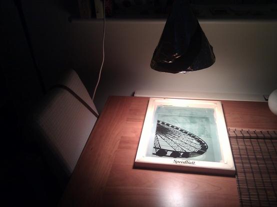 Come incidere un telaio serigrafico con una lampada agli ioduri metallici