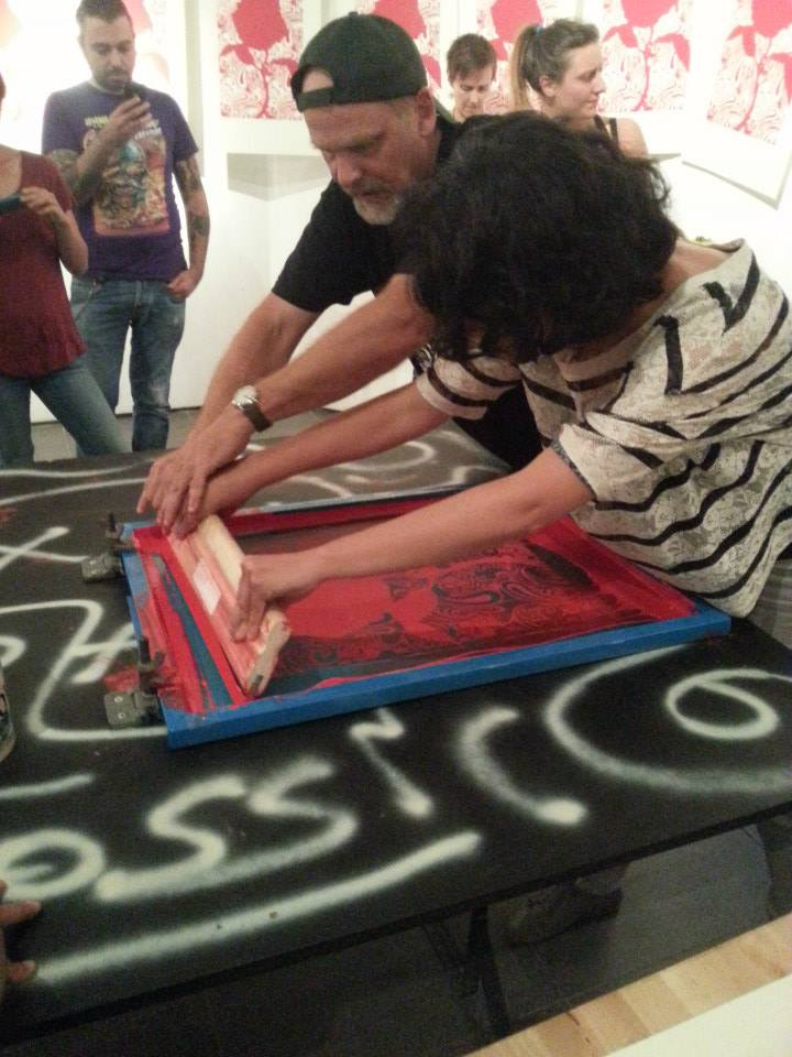 workshop di serigrafia con chuck sperry