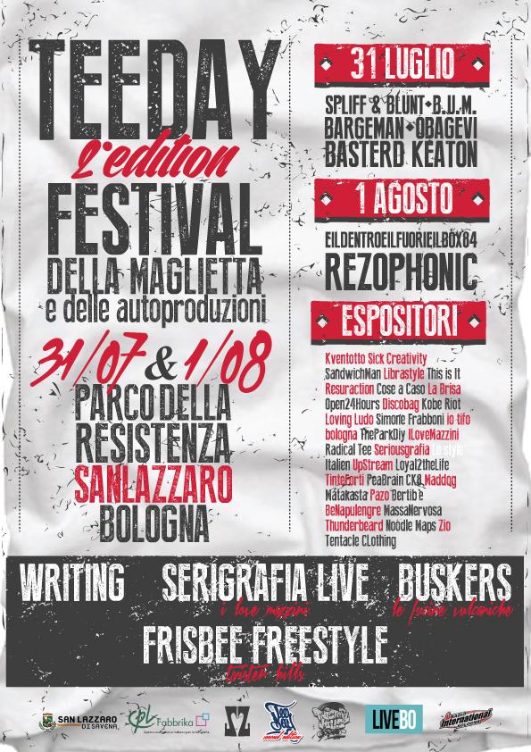 tee day festival con serigrafia dal vivo a Bologna