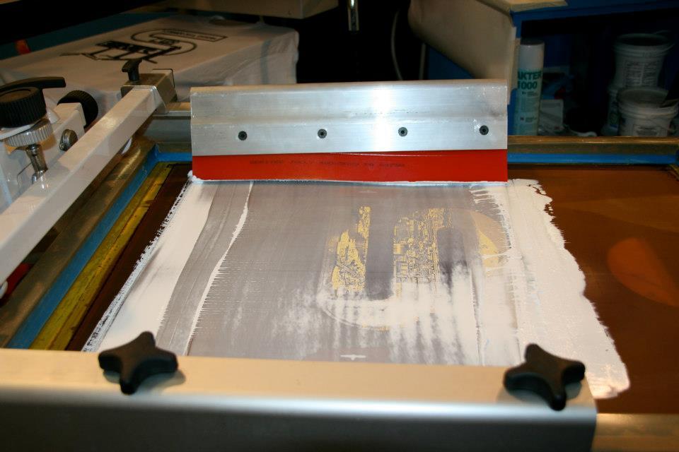 Serigrafia. Perchè passa troppo inchiostro attraverso le maglie del telaio?