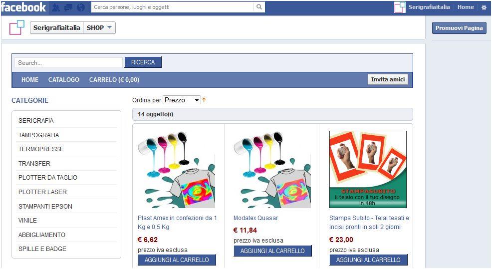 ecommerce magento su facebook