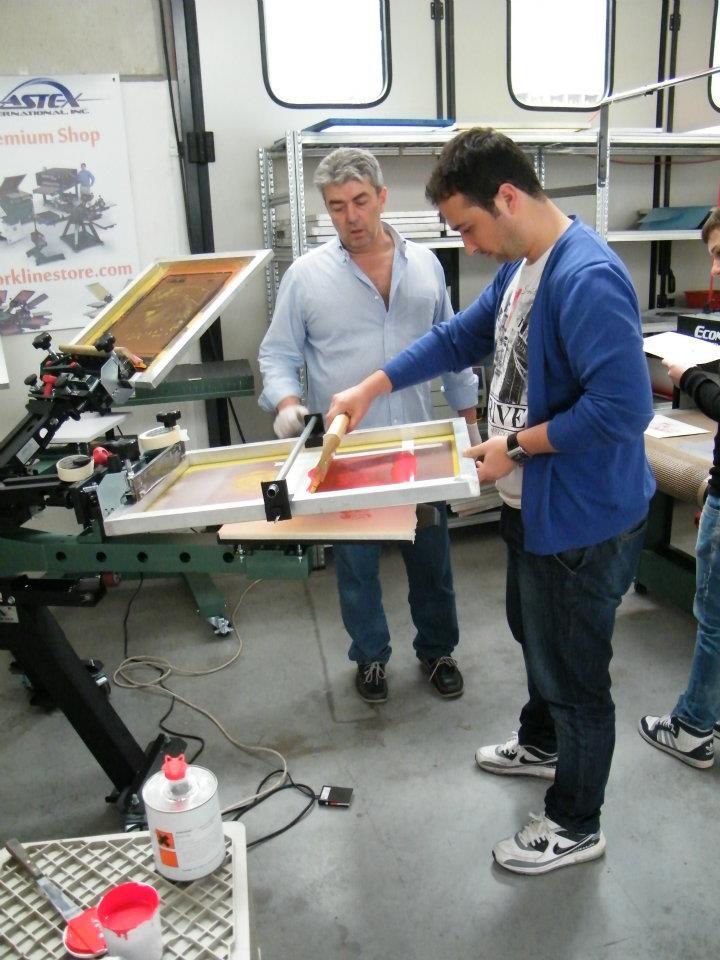 Prima esperienza con inchiostri a base acqua per serigrafia