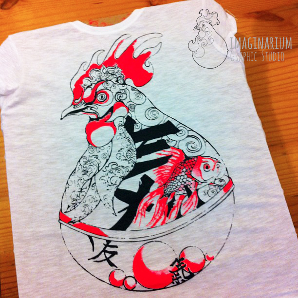 T-shirt stampata in serigrafia da Imaginarium Lucca