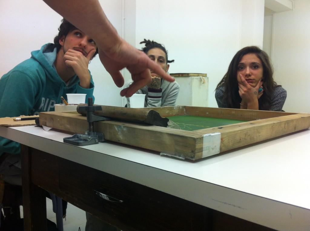 workshop di serigrafia con Associazione MUR