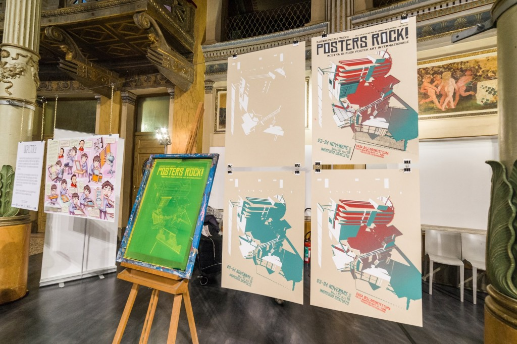mostra gigposters rock art a Roma