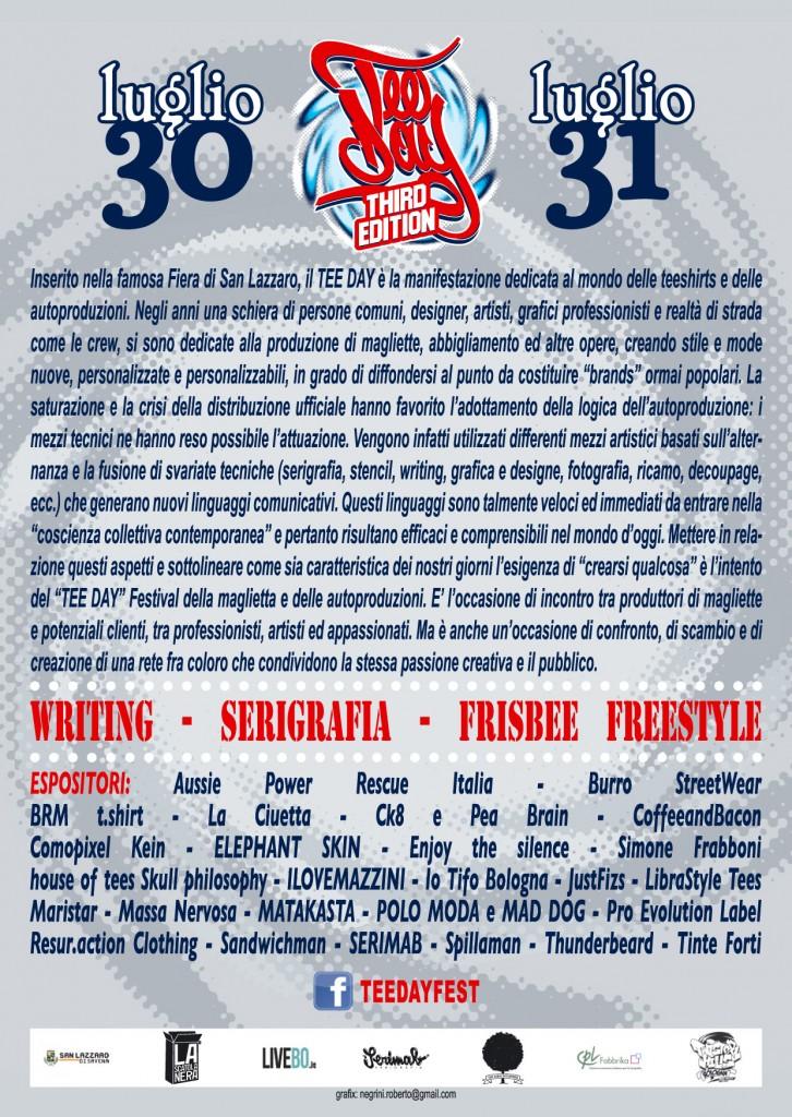 tee day festival autoproduzioni e magliette bologna