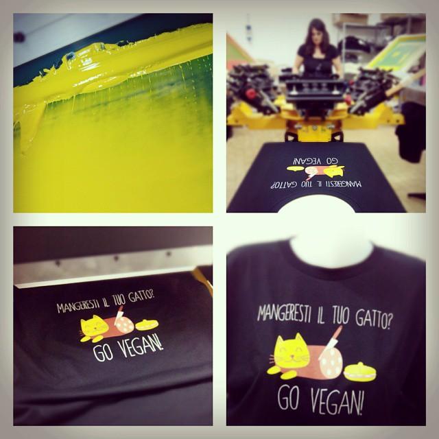 maglietta bio vegana stampata