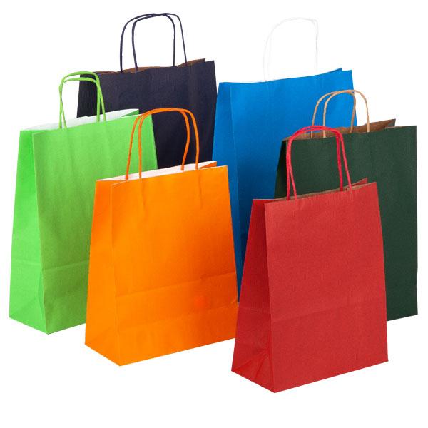 Stampare a più colori su shopper di carta