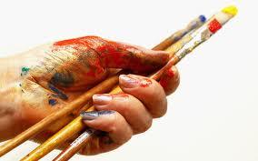 Dipingere a mano sulla carta per transfer serigrafico