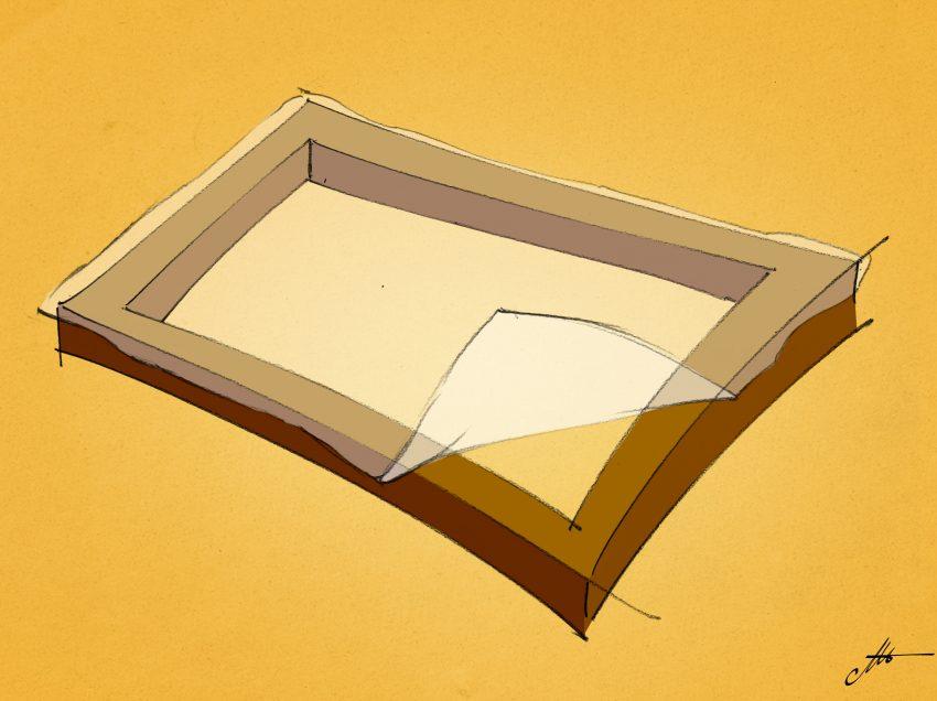 Due modi per fissare la tela al telaio per serigrafia