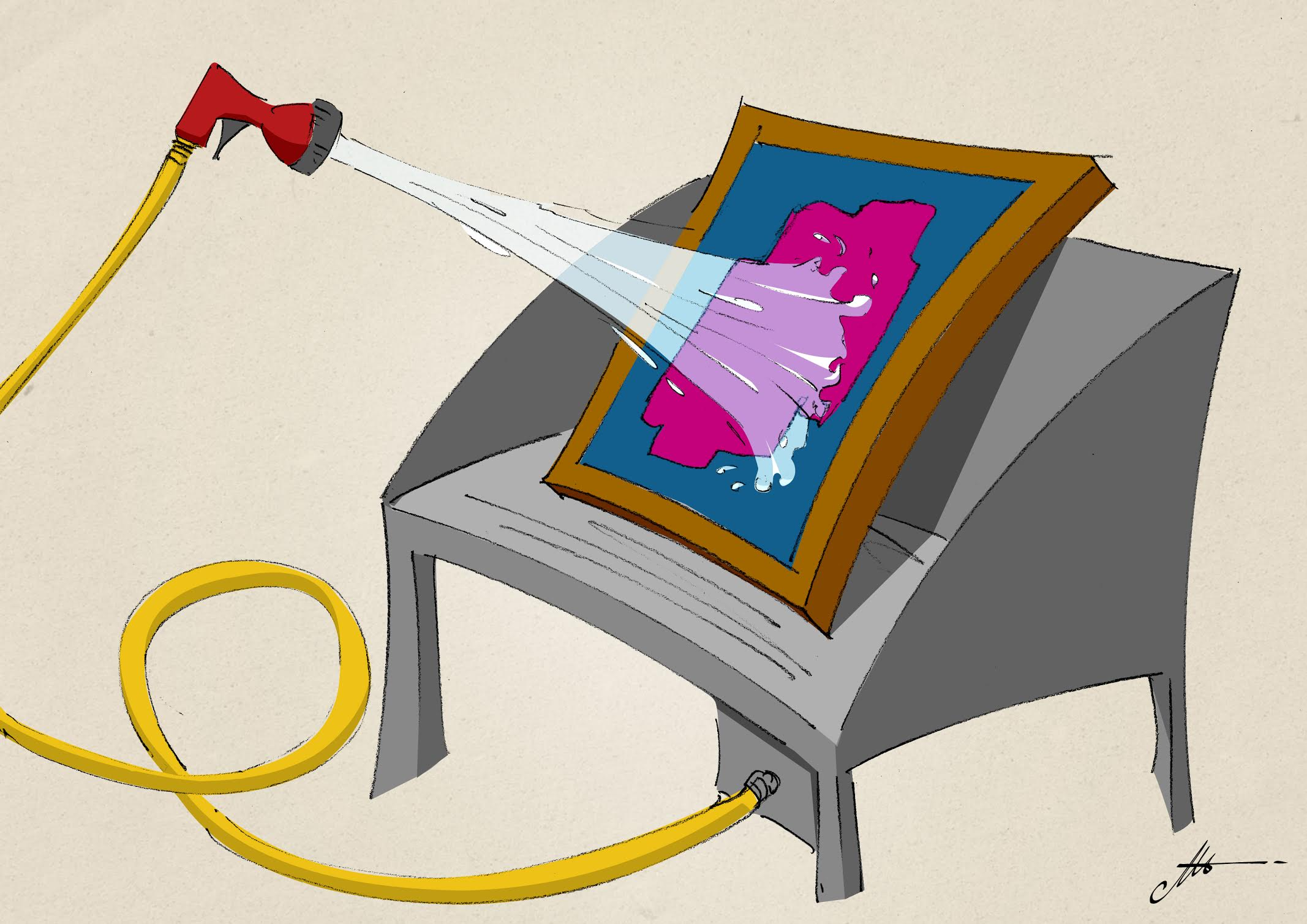normativa per il lavaggio dei telai serigrafia