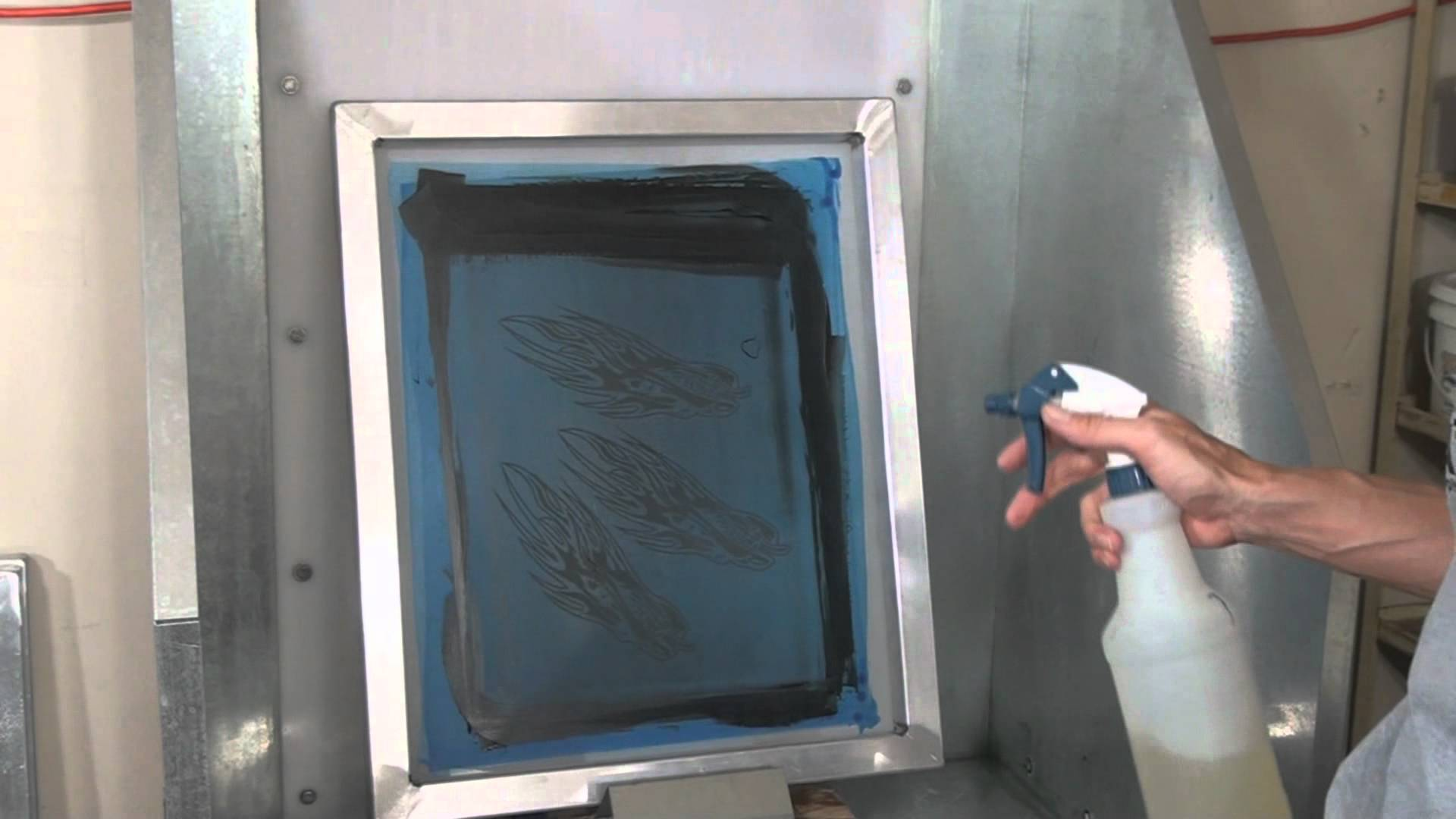 serigrafia lavaggio telai