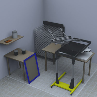 laboratorio di serigrafia