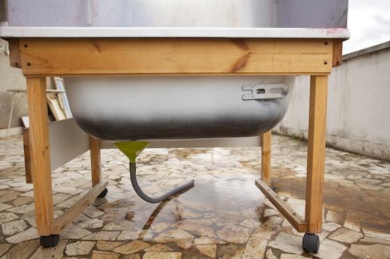 Vasca Da Bagno In Lamiera Zincata : Vasca di lavaggio per telai serigrafici autocostruita. un progetto