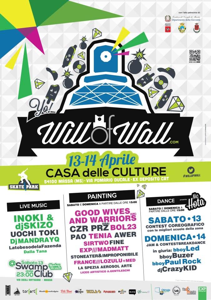 will of wall writing, murales, wall painting a Massa