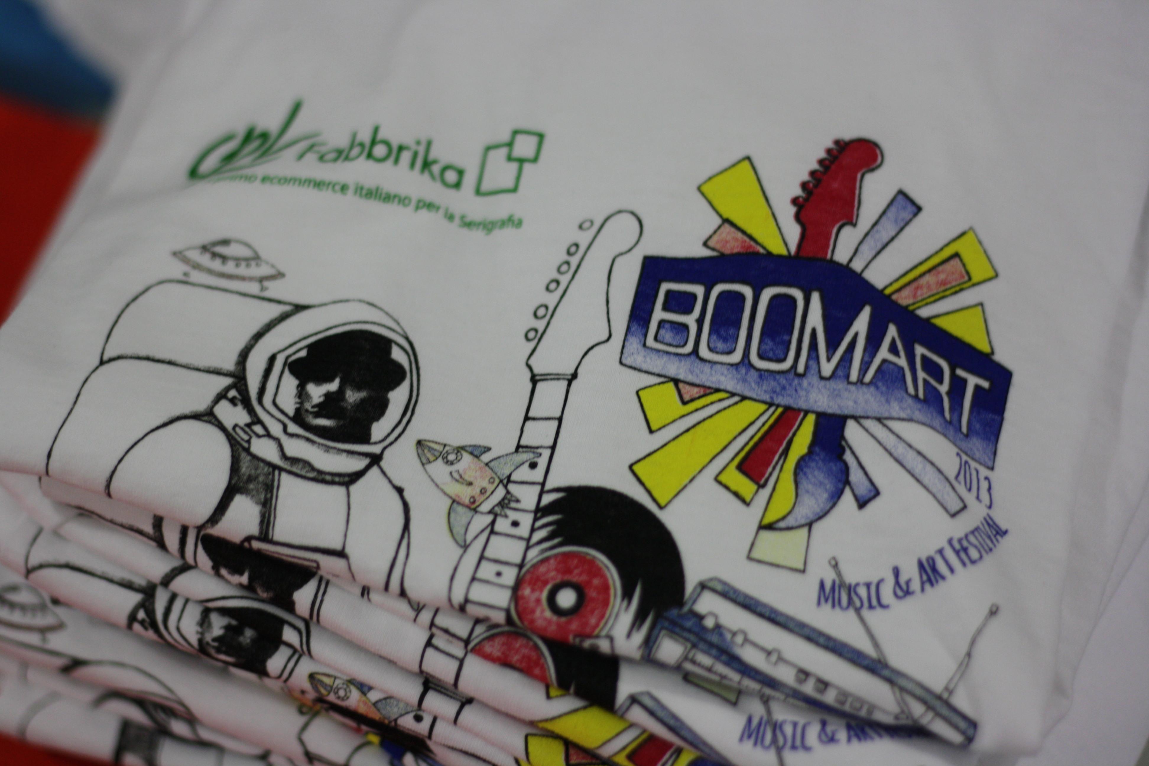 Boomart Festival stampa magliette