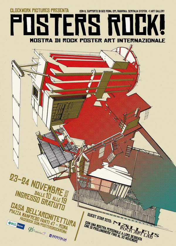 Posters Rock! poster rock art internazionale a Roma