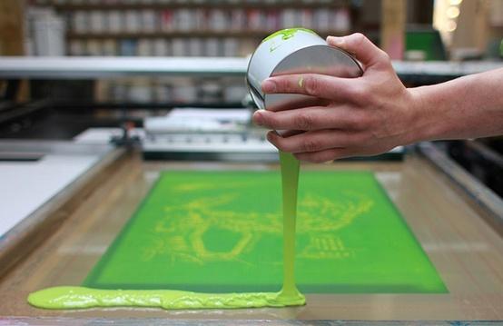 serigrafia emulsione e inchiostri all'acqua