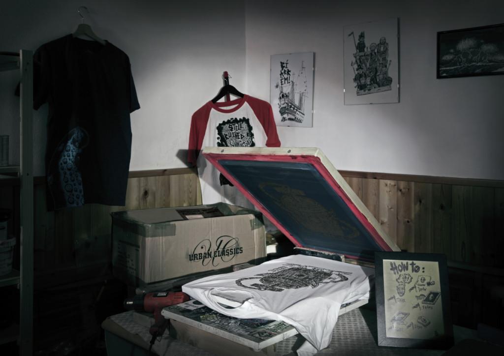 BRM abbigliamento stampato a mano