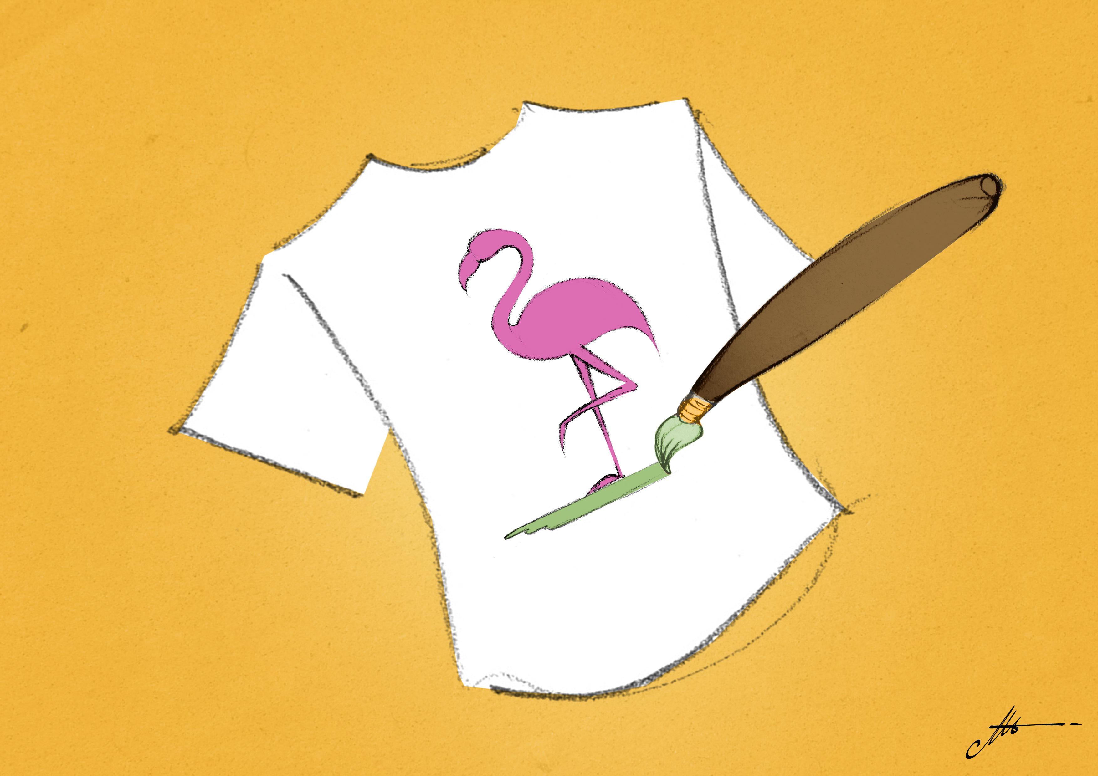 colorare a pennello tshirt serigrafia