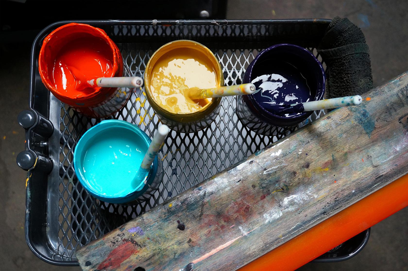inchiostri serigrafici per plastica e metallo