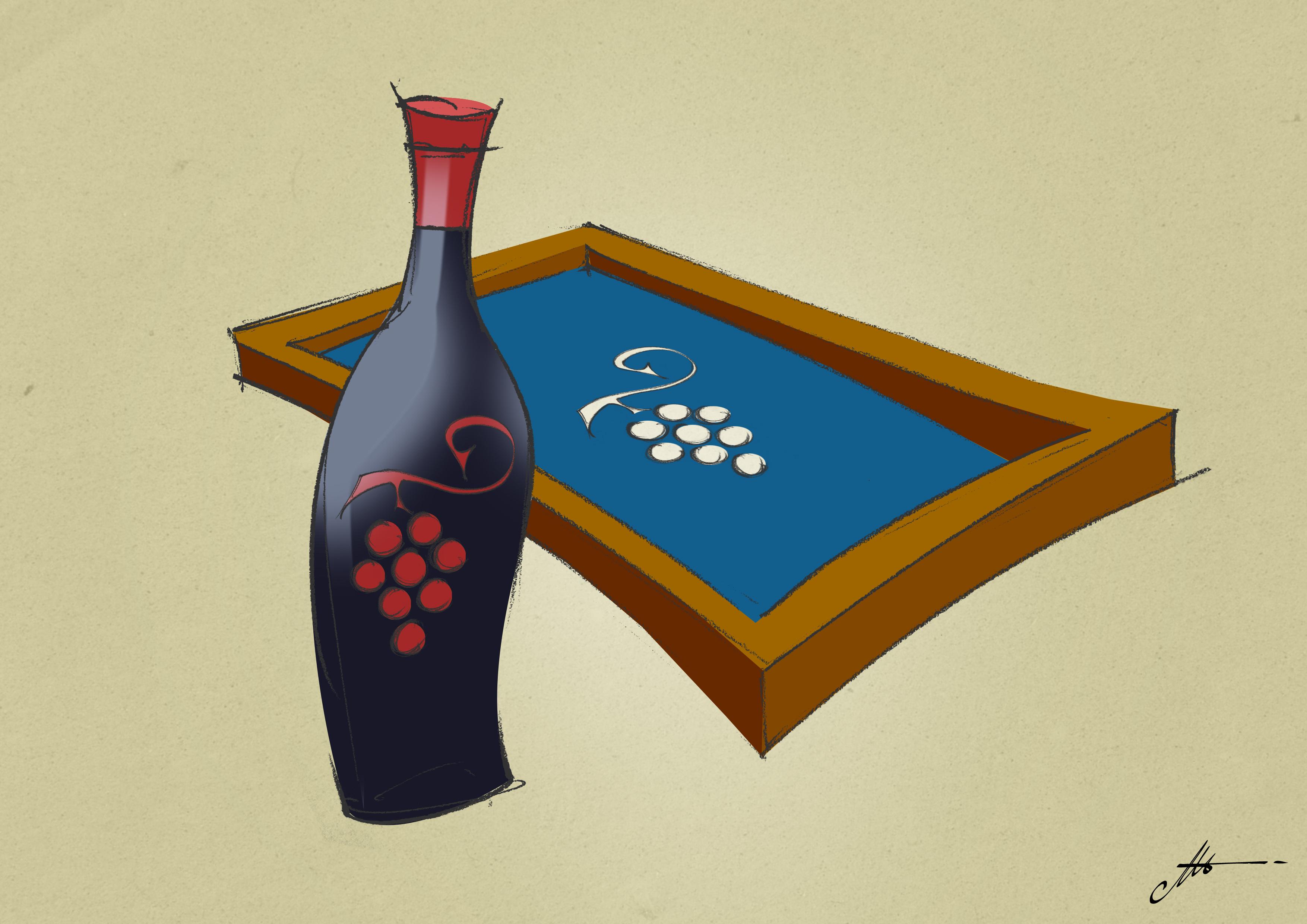 serigrafia su bottiglie vino