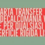 carta transfer decalcomania