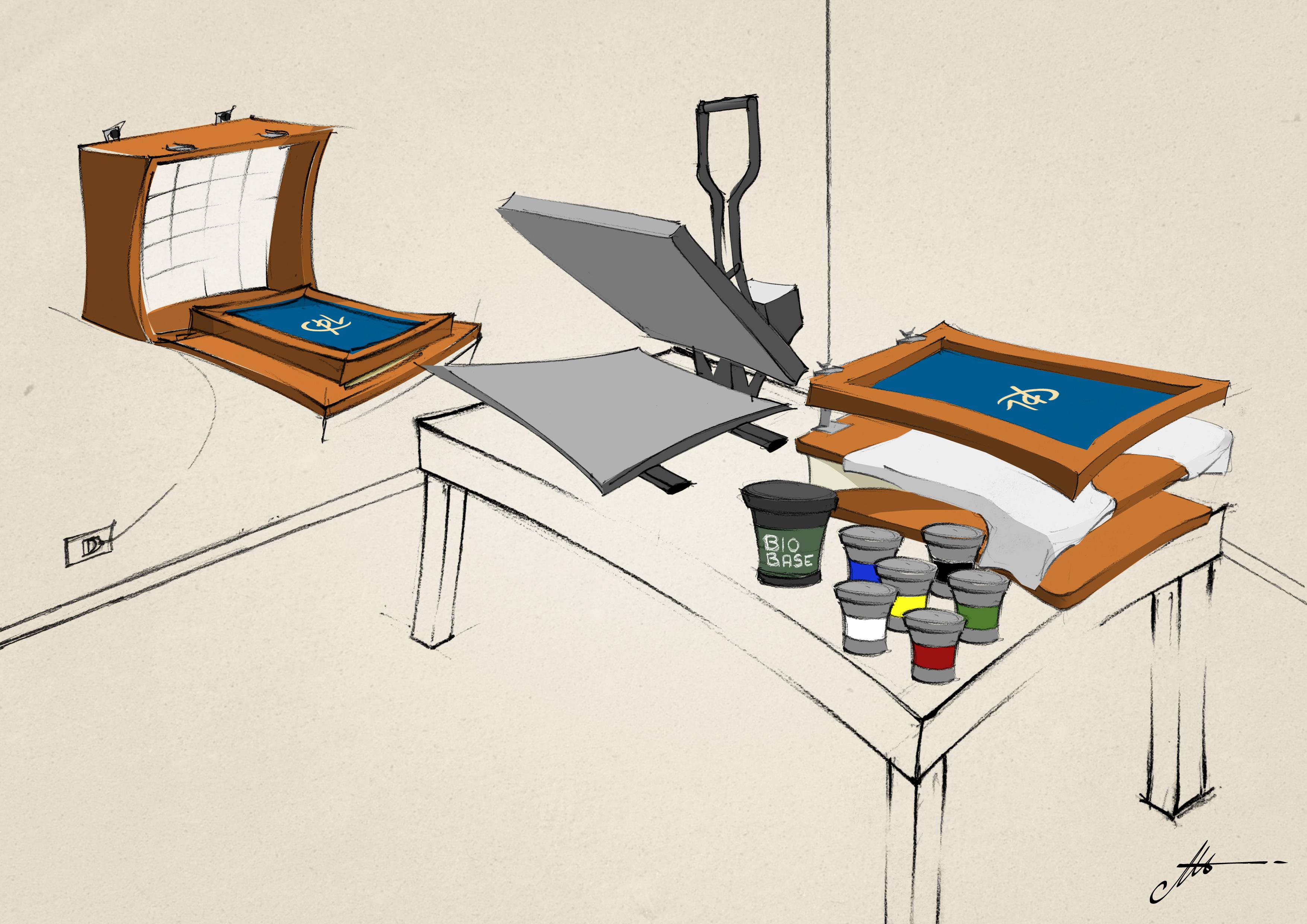 progettare laboratorio serigrafia